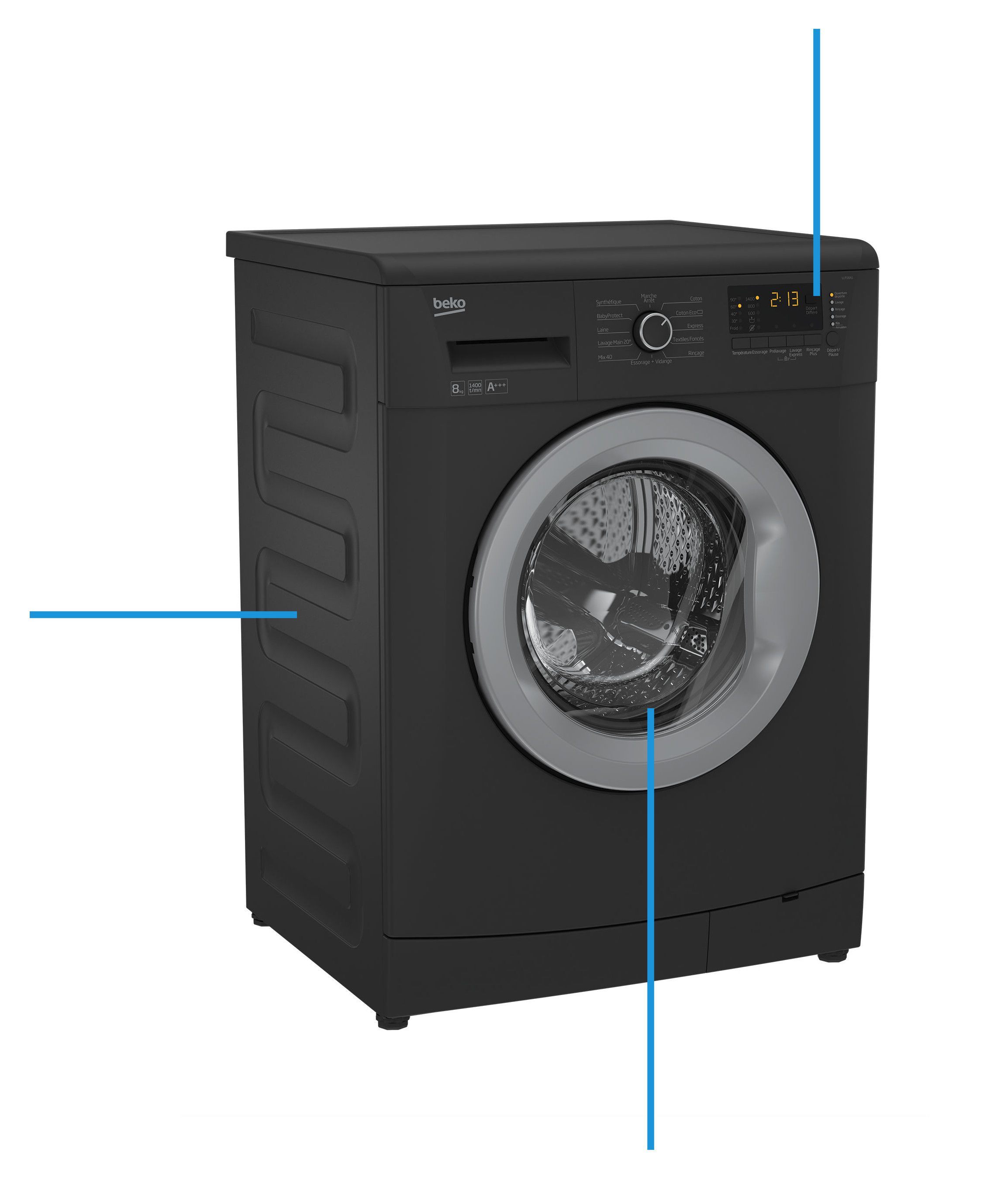 beko llf08a1 lave linge frontal 8kg 1400 tours a achat vente lave linge cdiscount. Black Bedroom Furniture Sets. Home Design Ideas