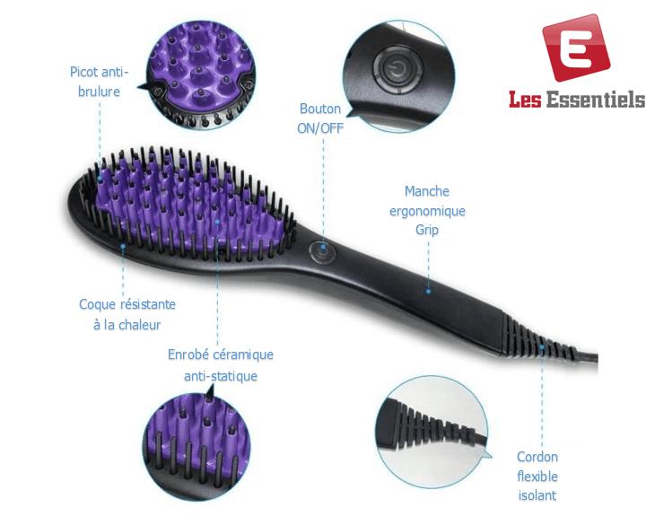 brosse lisser fer lisser lisseur cheveux brosse lissante peigne. Black Bedroom Furniture Sets. Home Design Ideas
