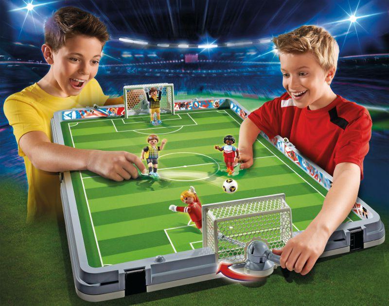 playmobil 6857 terrain de football transportable
