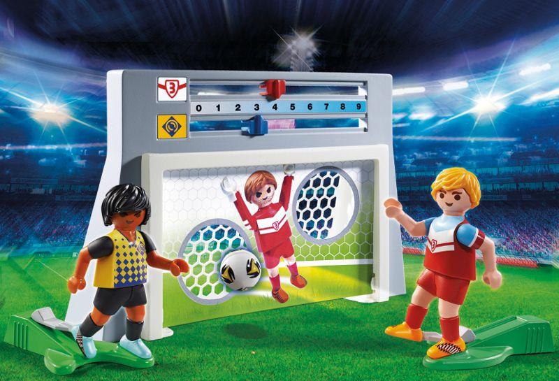 playmobil 6858 cage de tir au but avec footballeur
