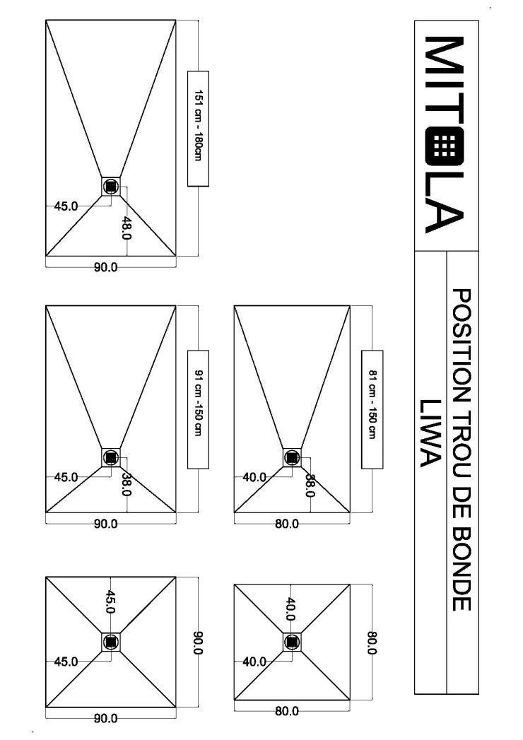 mitola receveur en r sine composite liwa 120x80 anthracite achat vente receveur de douche. Black Bedroom Furniture Sets. Home Design Ideas