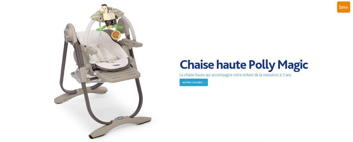 Chicco chaise haute evolutive polly magic mirage mirage for Magic renov tout pret