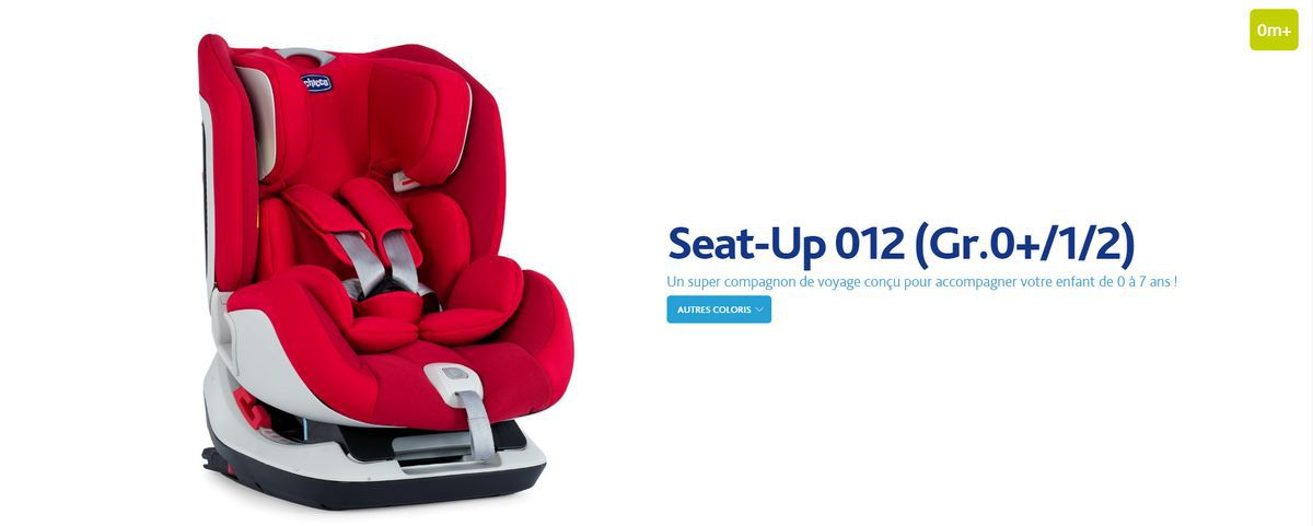 CHICCO Siège Auto Seat-Up - Groupe 0 1 2 - Rouge - Achat   Vente ... 8a5117667a1