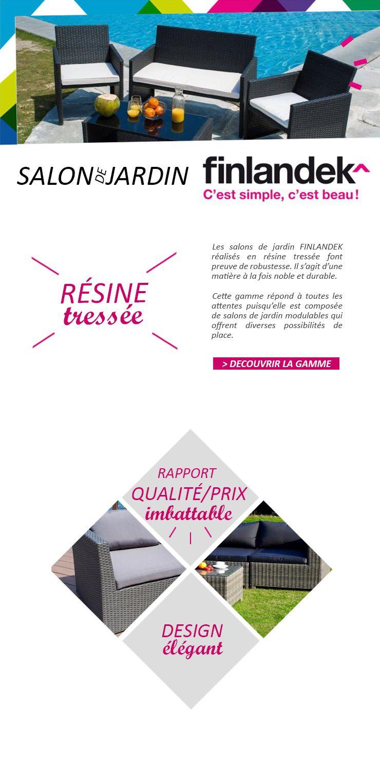 Finlandek salon de jardin 6 places modulables en r sine tress e hauska achat vente salon - Salon de jardin 6 places resine tressee ...