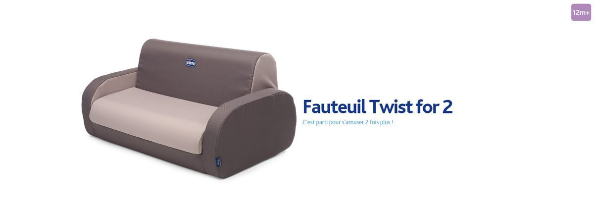 Chicco fauteuil enfant twist for two beige beige achat for Fauteuil auto bebe
