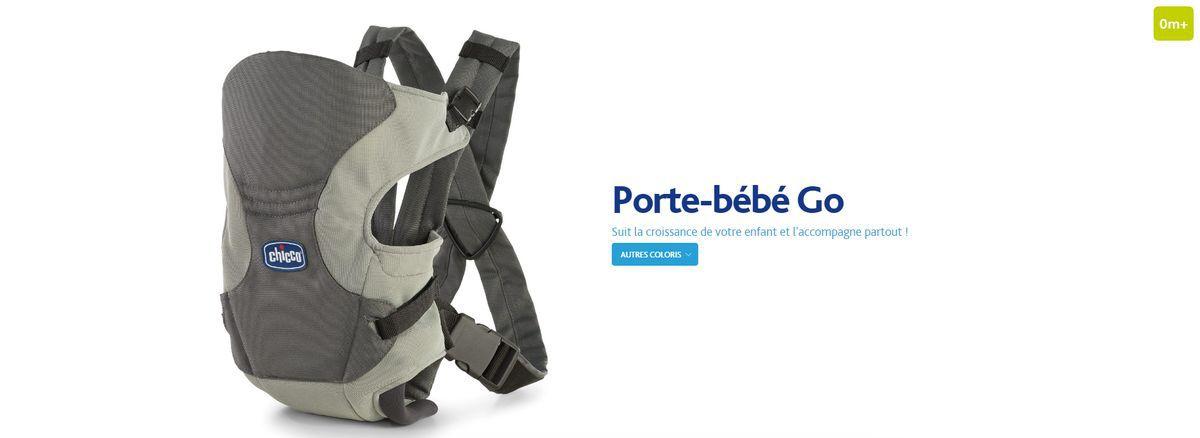 chicco porte b b go moon gris achat vente porte b b. Black Bedroom Furniture Sets. Home Design Ideas