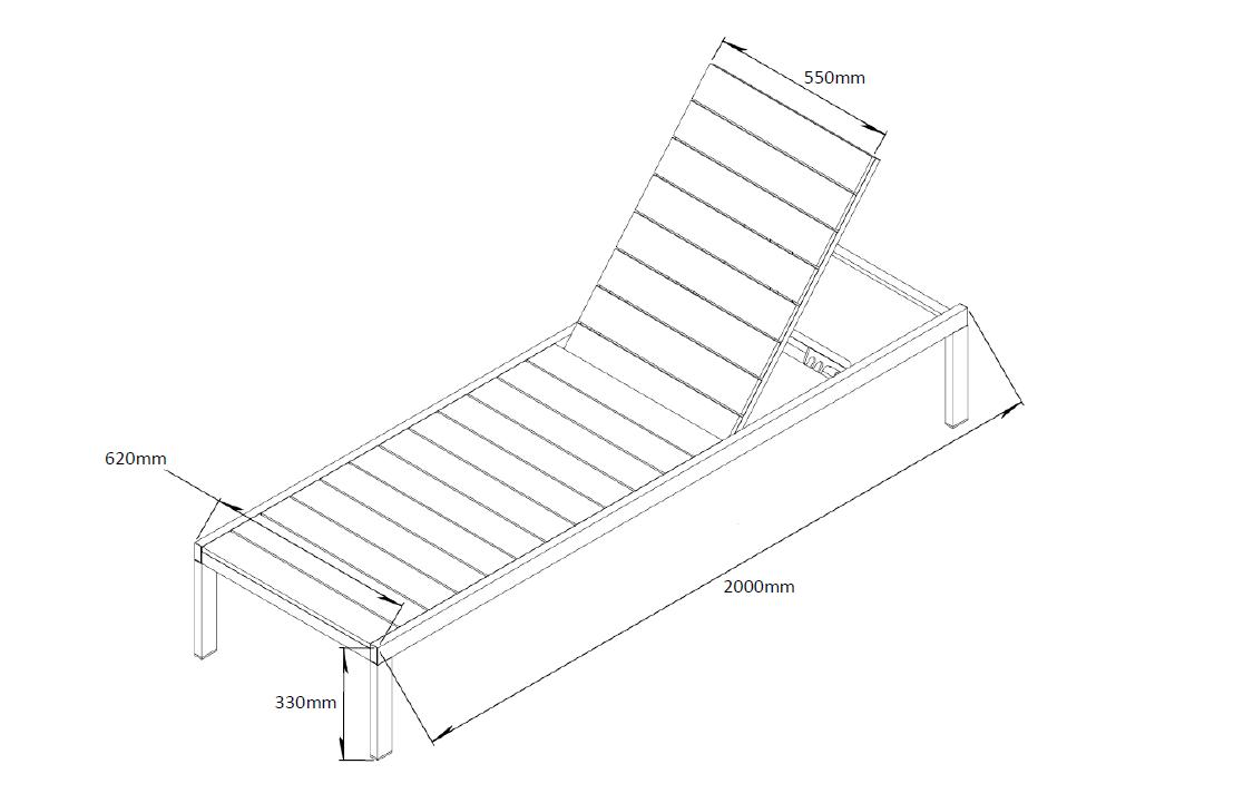 Bain de soleil en aluminium et nowood bois achat for Transat bain de soleil bois