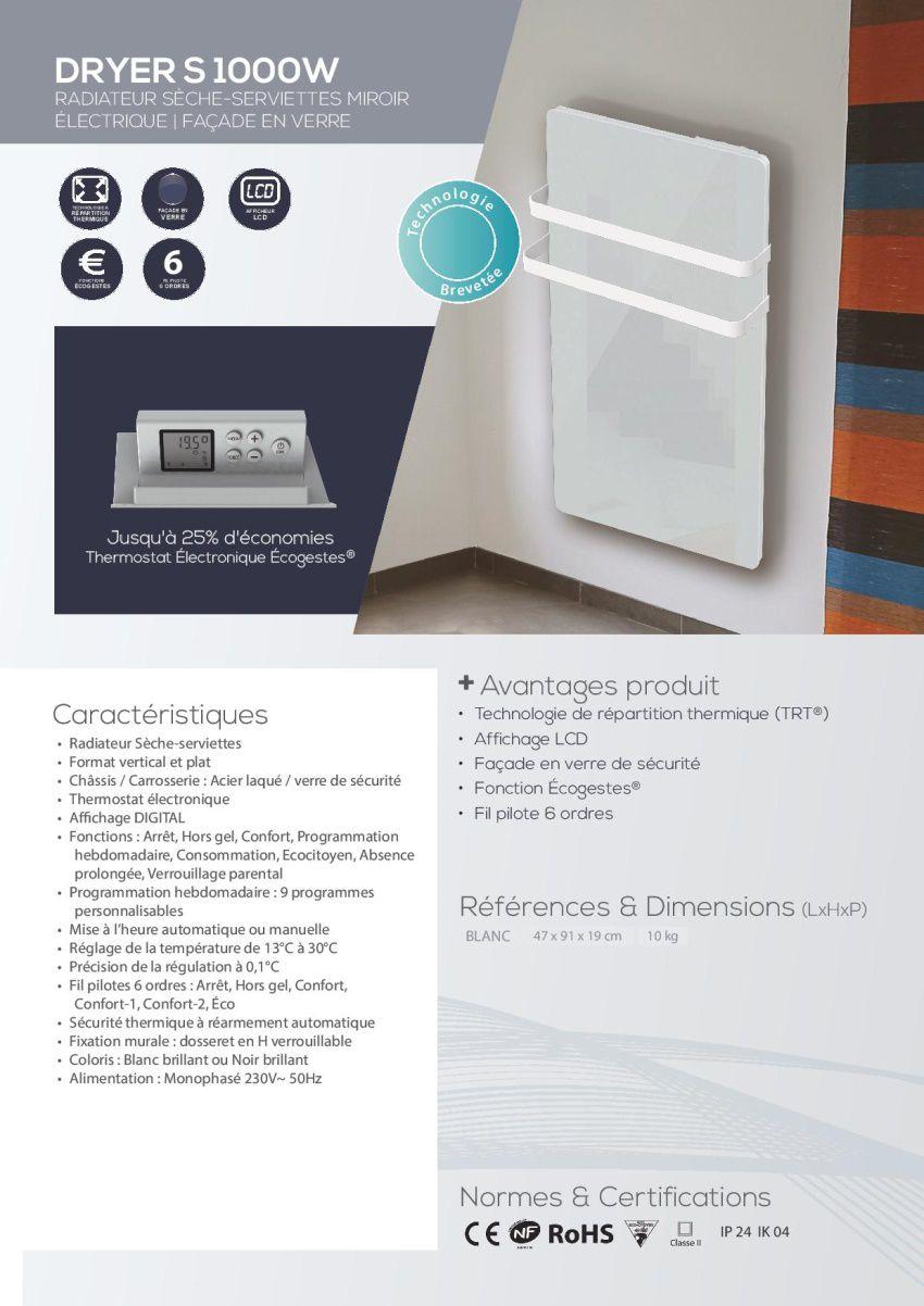 carrera 1000 watts radiateur s che serviettes lectrique. Black Bedroom Furniture Sets. Home Design Ideas