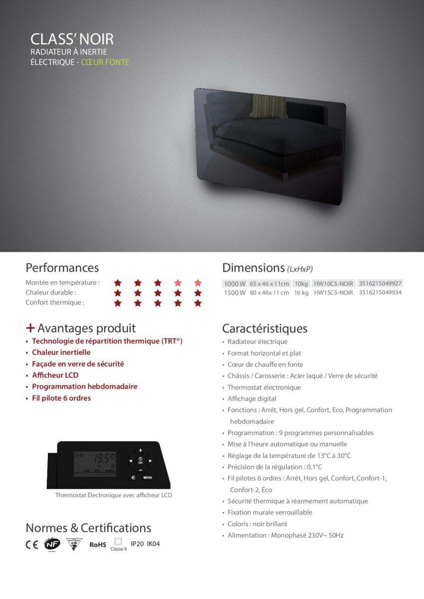 destockage carrera class 39 1500 watts radiateur lectrique. Black Bedroom Furniture Sets. Home Design Ideas