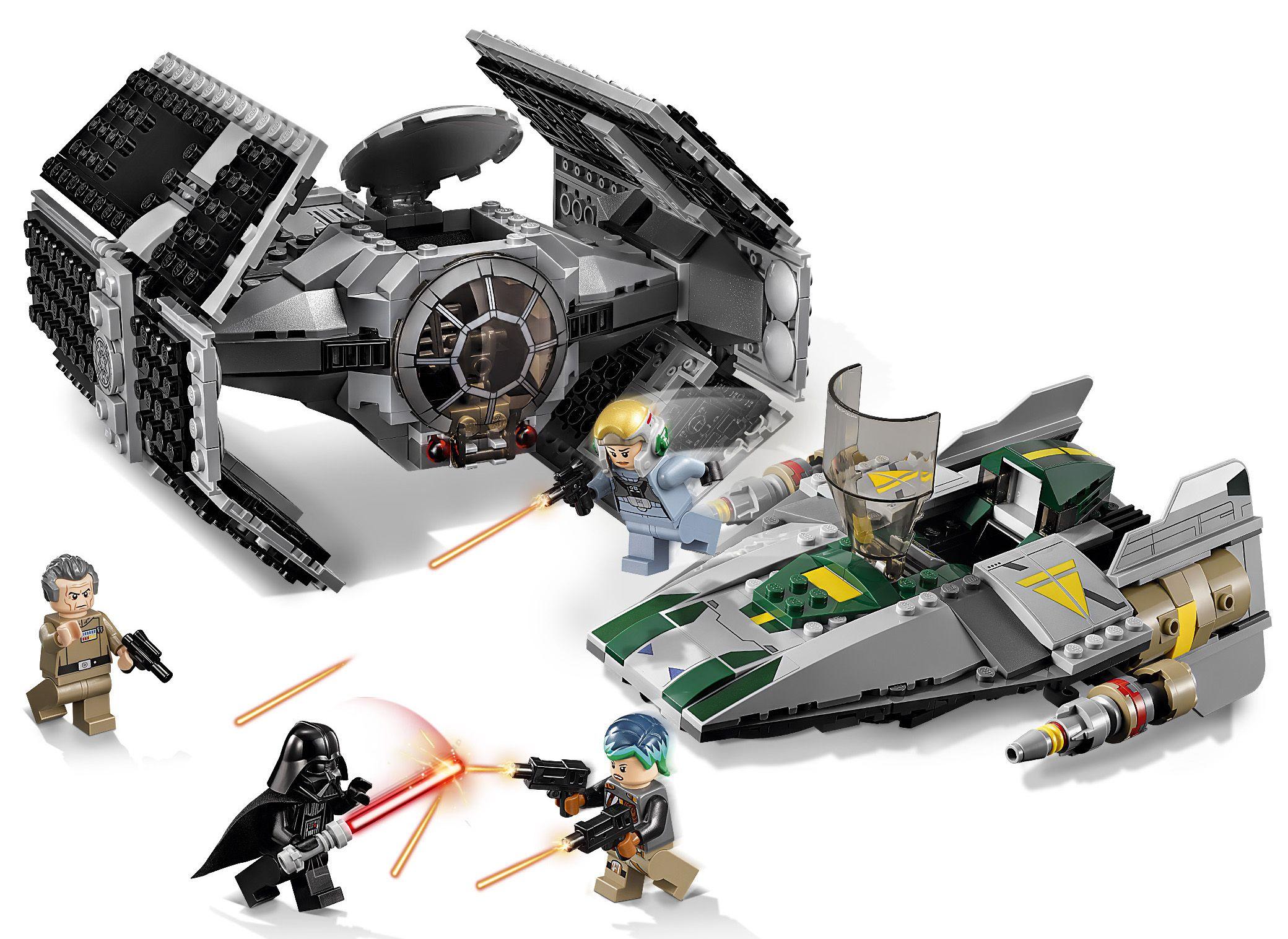 Lego star wars 75150 le tie advanced de dark vador - Lego star wars avec dark vador ...