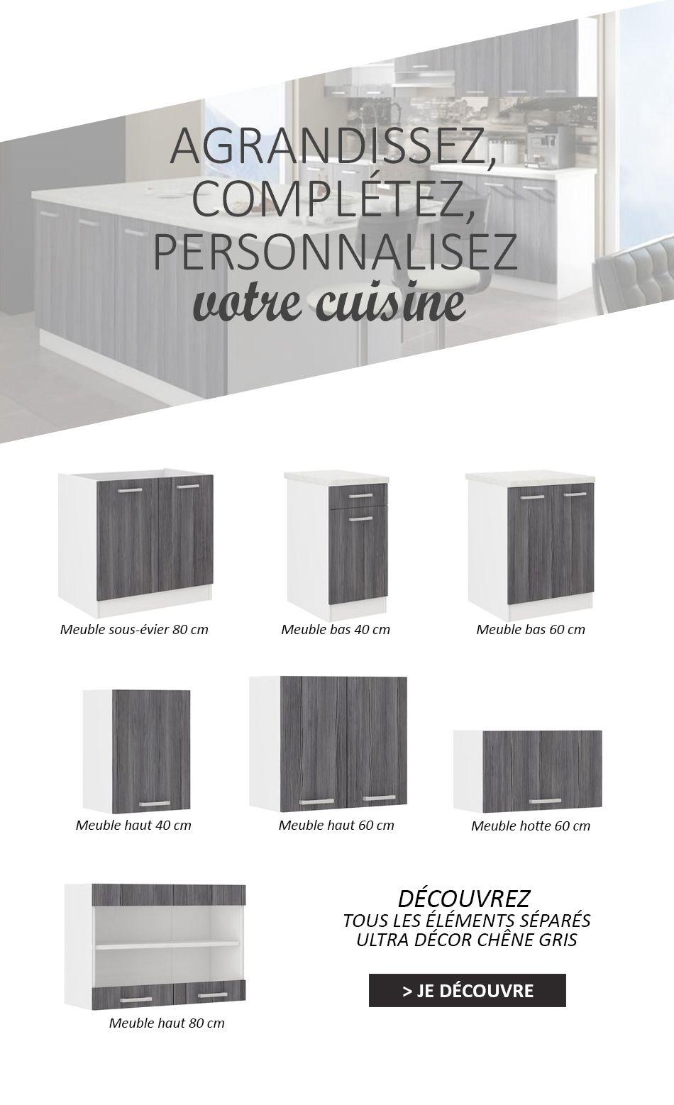 Ilot Central De Cuisine Brico Depot ~ Ultra Cuisine Compl Te Avec Lot D Cor Ch Ne Gris Et Blanc Achat