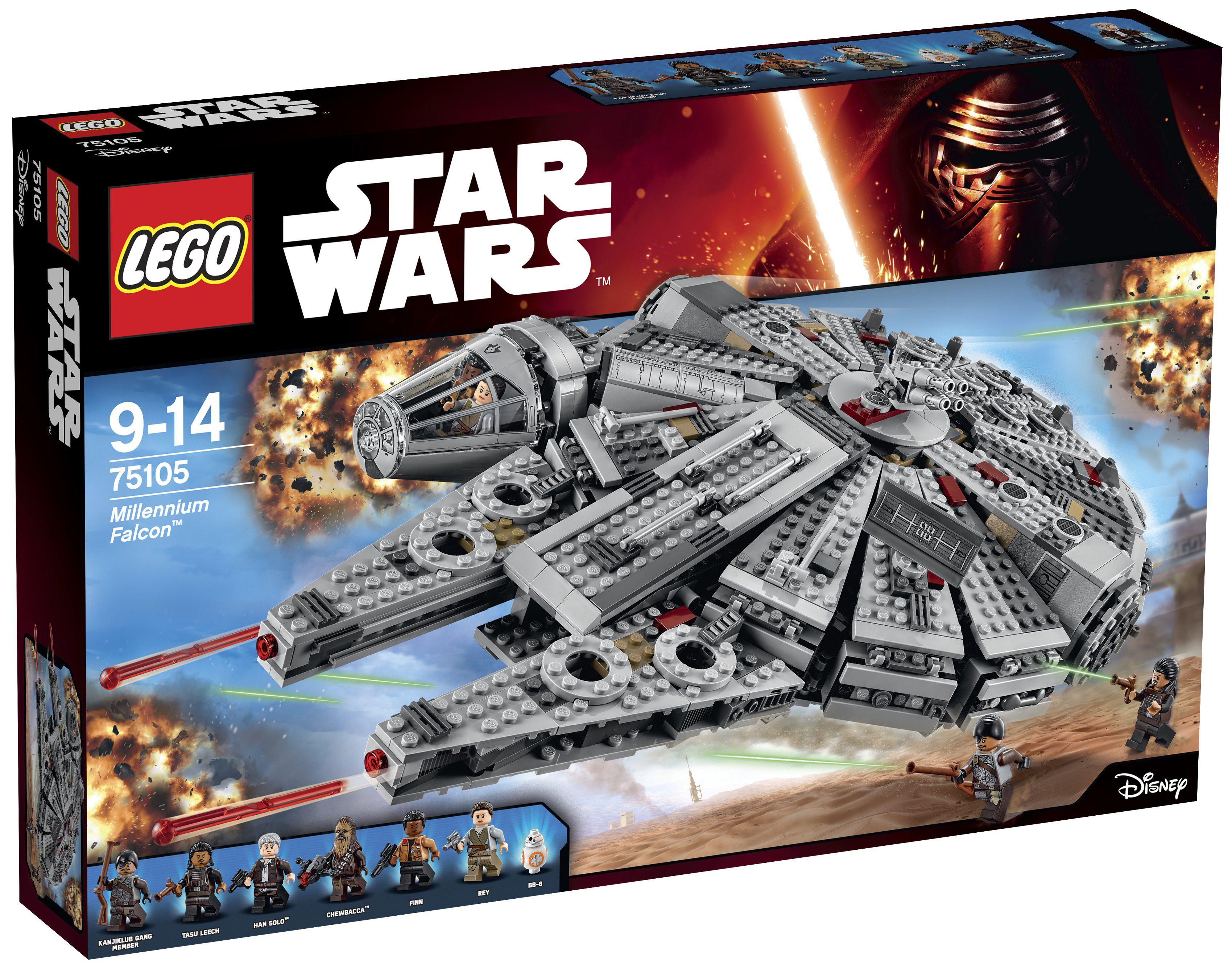 lego star wars 75105 millennium falcon achat vente assemblage construction cdiscount. Black Bedroom Furniture Sets. Home Design Ideas