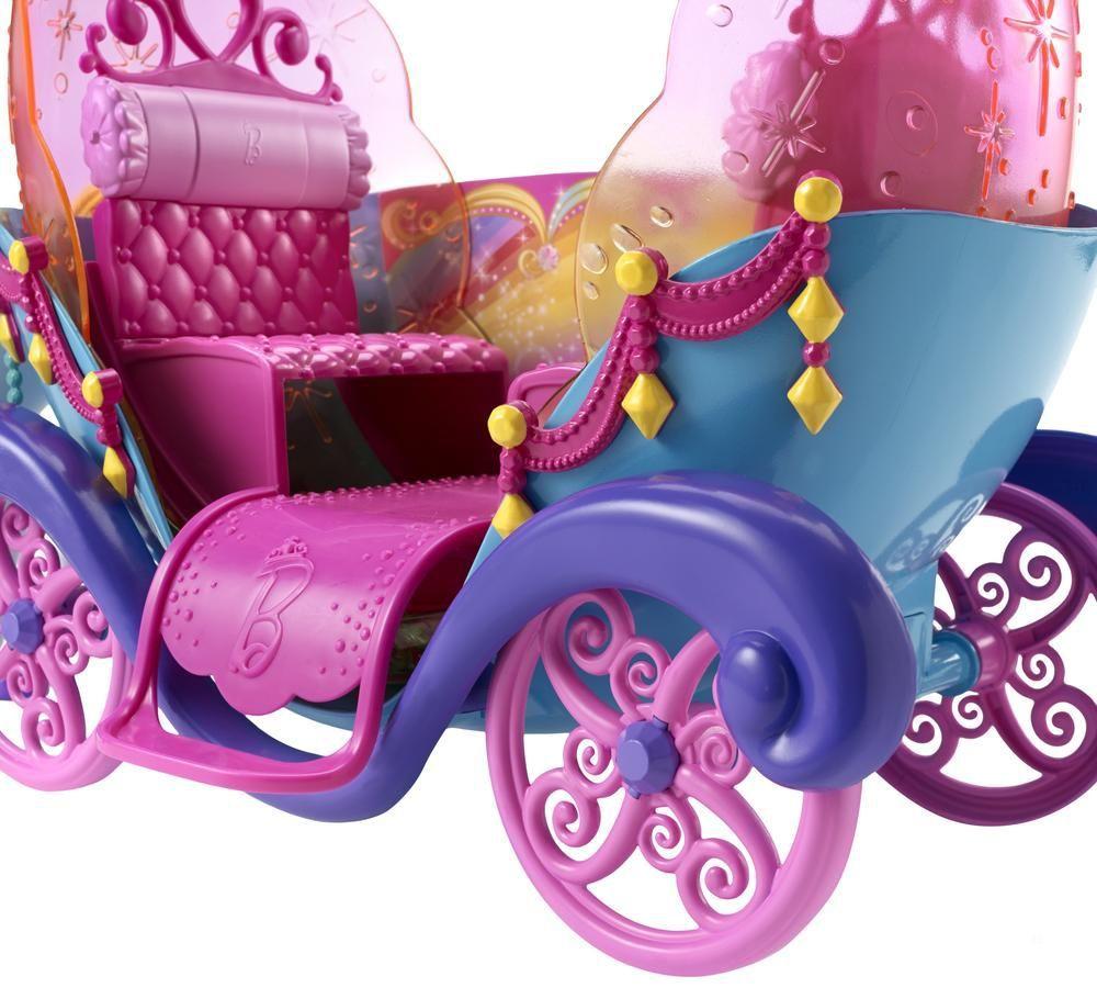 Barbie carrosse arc en ciel achat vente accessoire poup e cdiscount - Carrosse de princesse ...