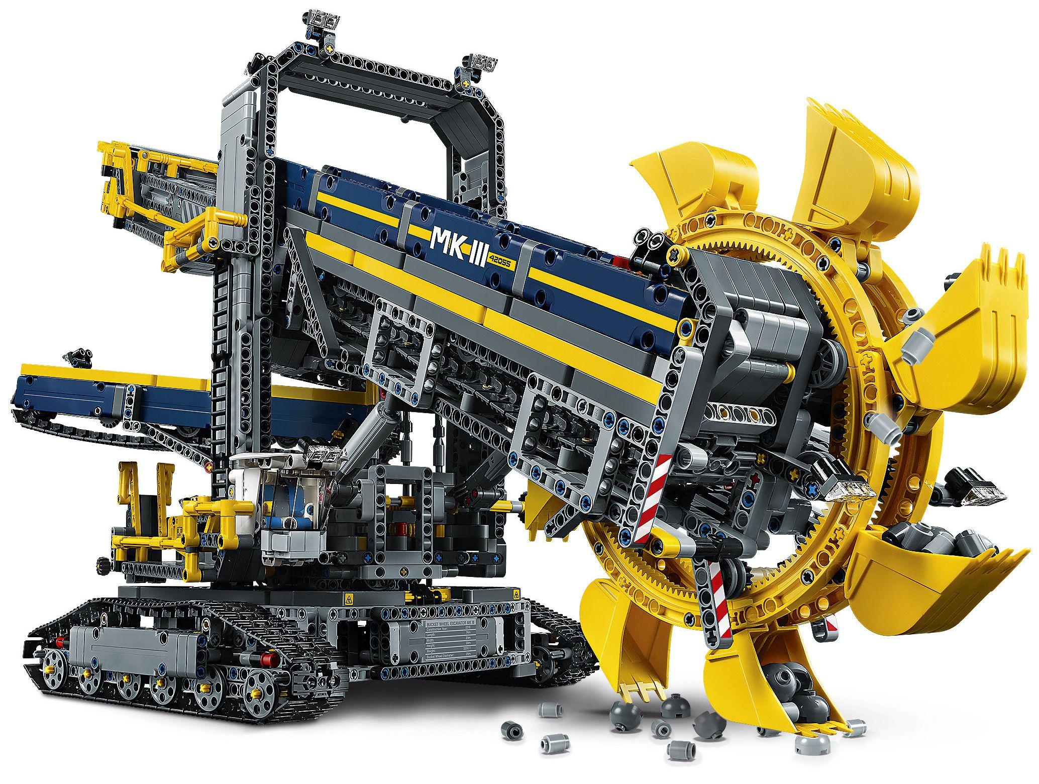 Lego technic 42055 la pelleteuse godets achat vente - Jeux de construction lego technic ...