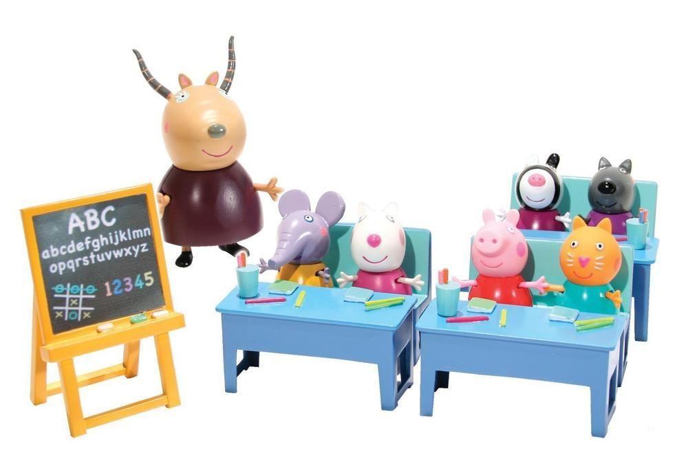 peppa pig salle de classe avec 7 personnages achat vente univers miniature cdiscount. Black Bedroom Furniture Sets. Home Design Ideas