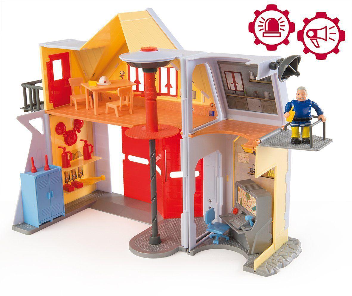 sam le pompier caserne de pompier achat vente univers miniature cdiscount. Black Bedroom Furniture Sets. Home Design Ideas