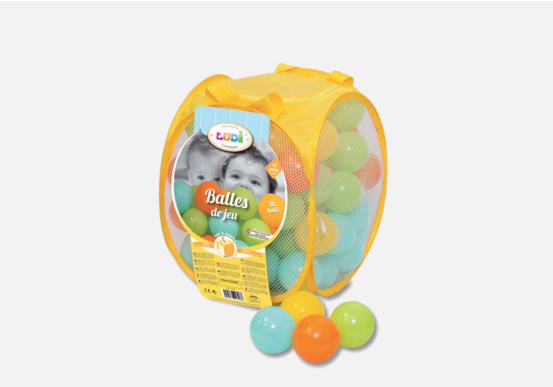Ludi 75 balles de jeu sac de transport achat vente for Piscine a balles ludi