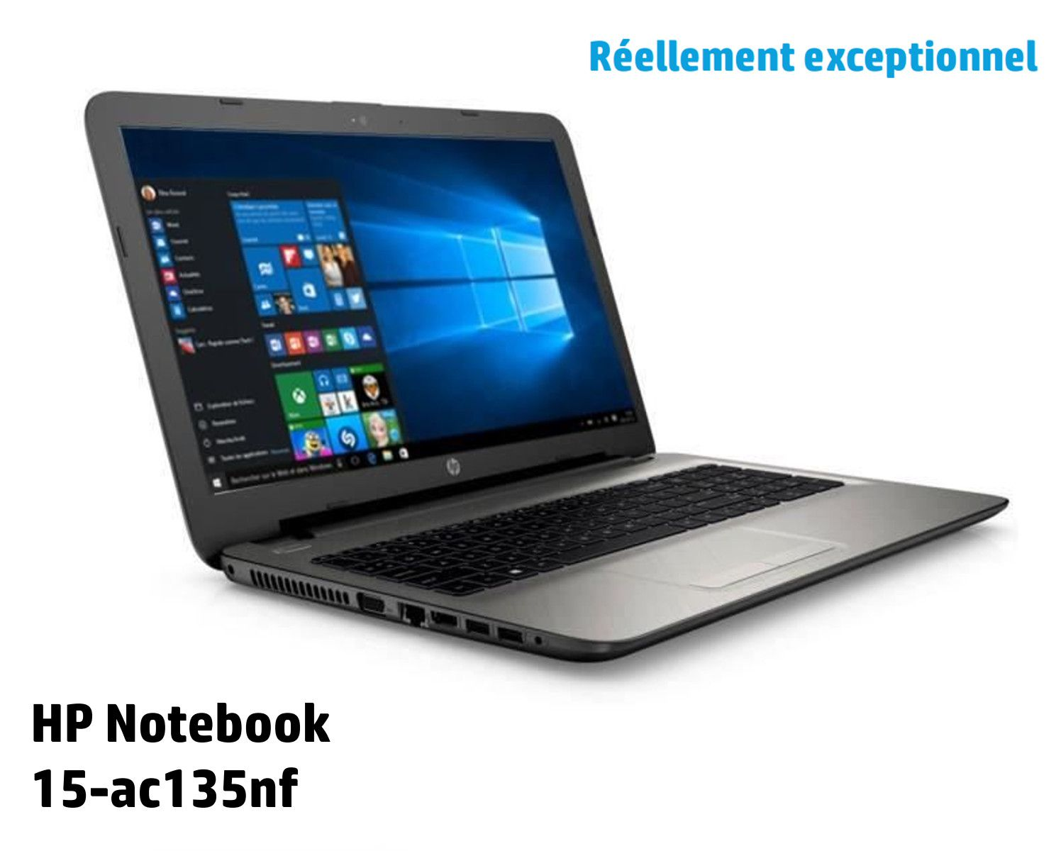 hp pc portable notebook 15ac135nf 15 6 ram 6go windows 10 i5 4210u dual intel hd. Black Bedroom Furniture Sets. Home Design Ideas