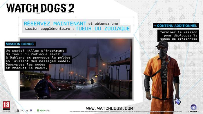 Watch Dogs  Deluxe Edition Zodiac Killer Code
