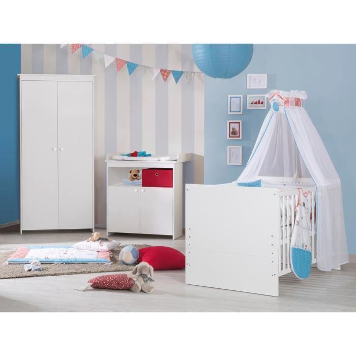 Emilia chambre b b compl te 3 pi ces lit volutif for Achat chambre enfant