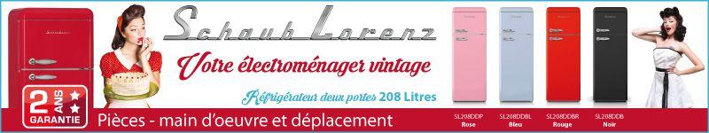 SCHAUB LORENZ SL208DDP Réfrigérateur Vintage Rose Deux Portes 208 ... 189be6cedac0