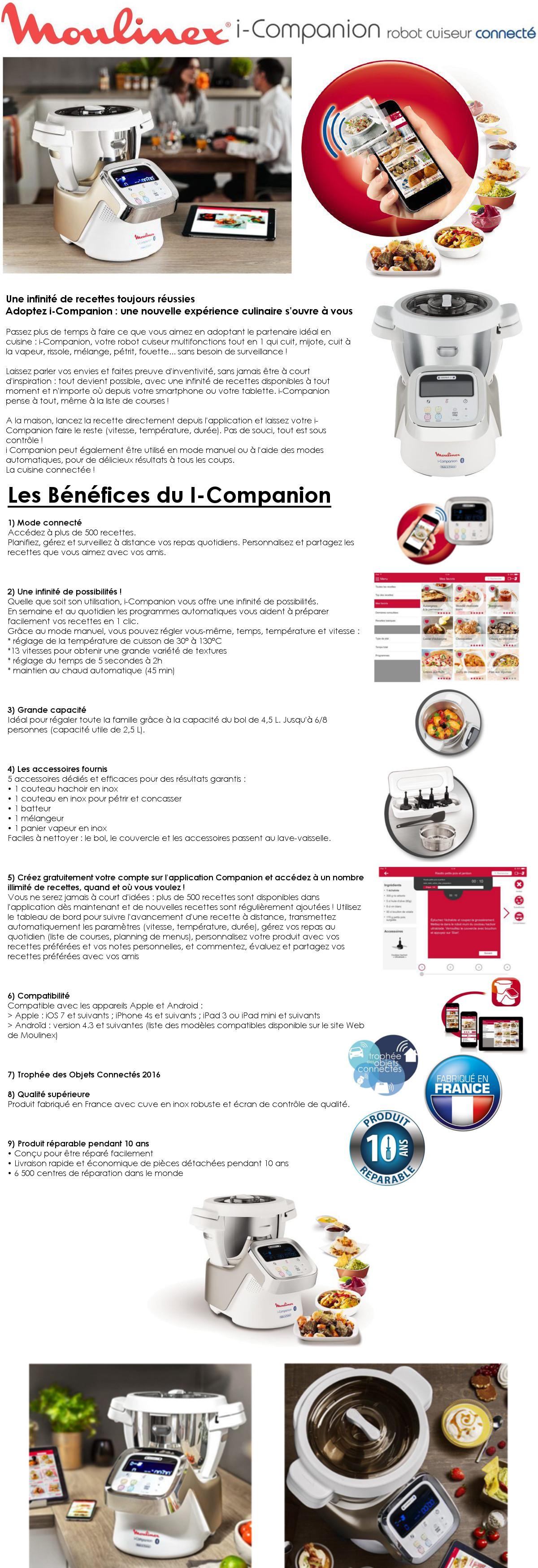 MOULINEX Robot cuiseur connecté I COMPANION HF900110 Achat