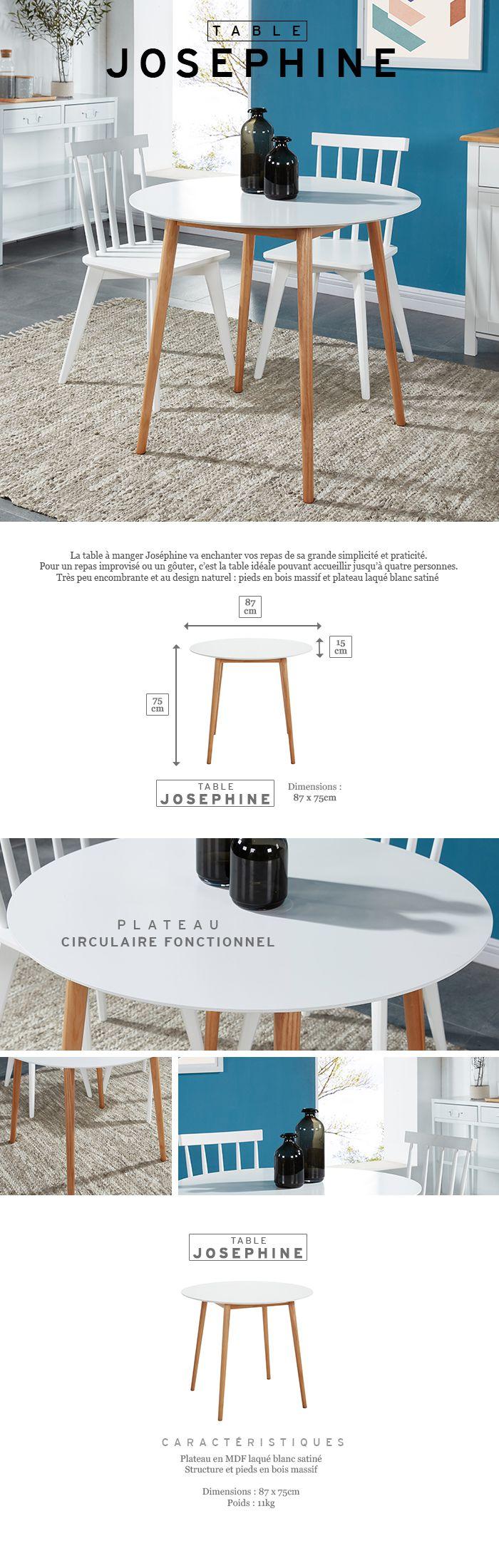 Table Repas 2 Personnes babette table à manger ronde de 2 à 4 personnes scandinave