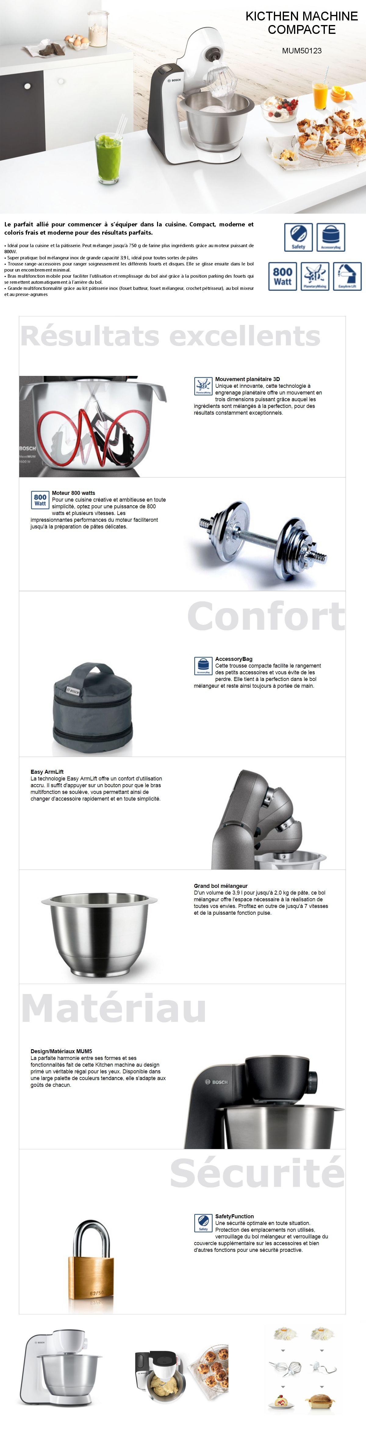bosch mum54a00 robot p tissier mum noir et blanc achat vente robot de cuisine cdiscount. Black Bedroom Furniture Sets. Home Design Ideas