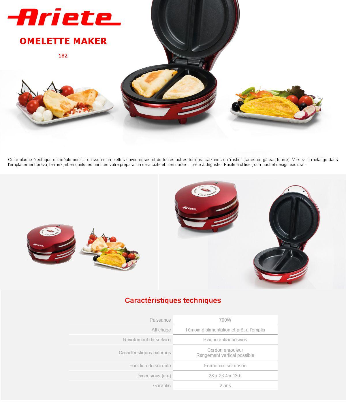 ariete appareil a omelette