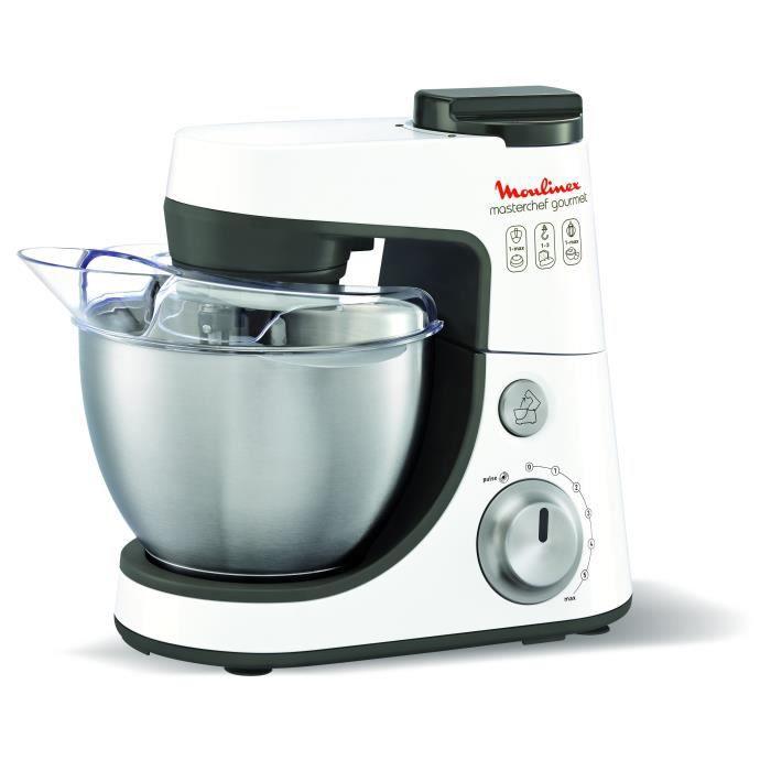 moulinex - robot pâtissier qa413 masterchef gourmet blanc - achat