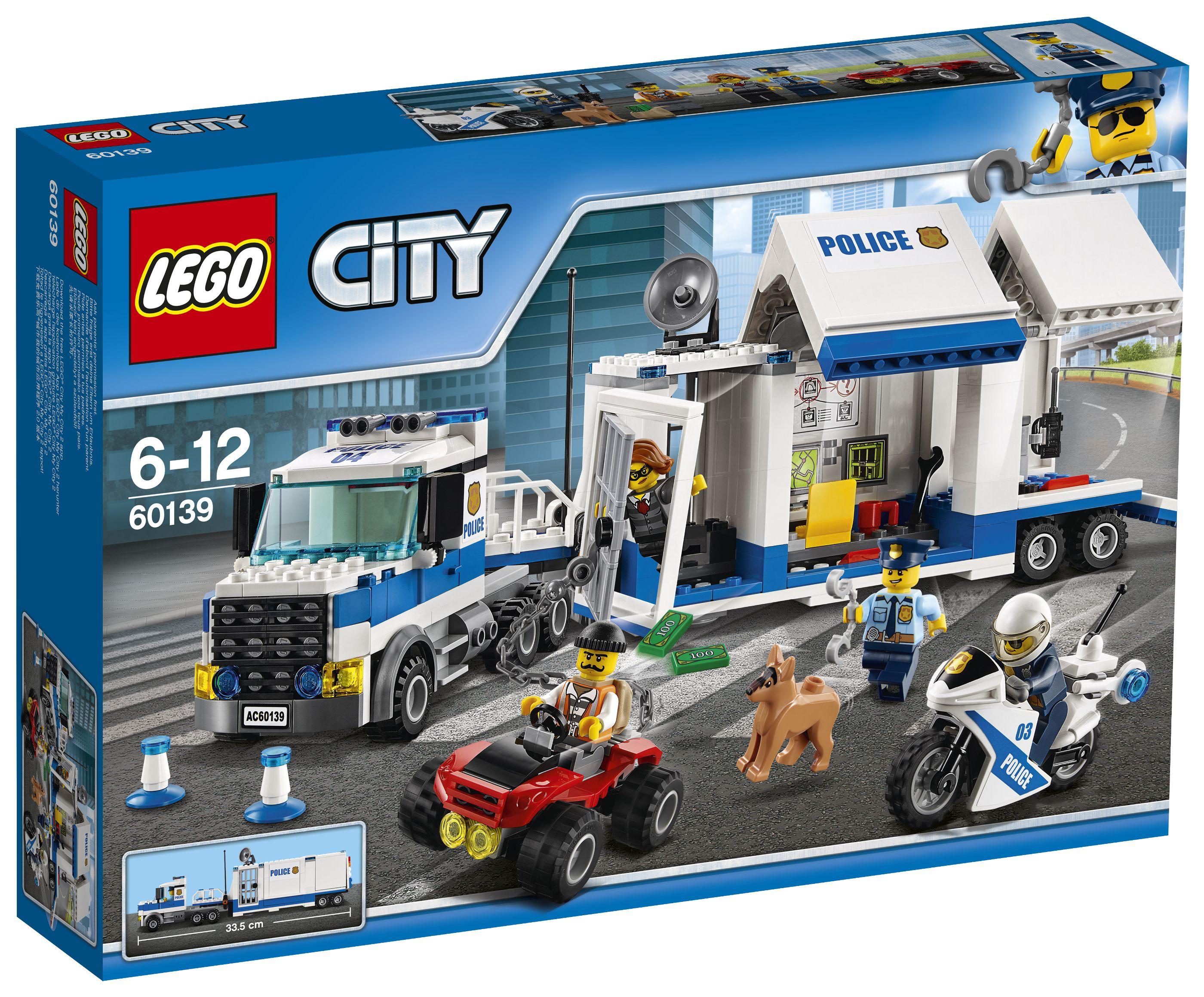 Lego city 60139 le poste de commande mobile achat vente assemblage construction cdiscount - Lego camion police ...