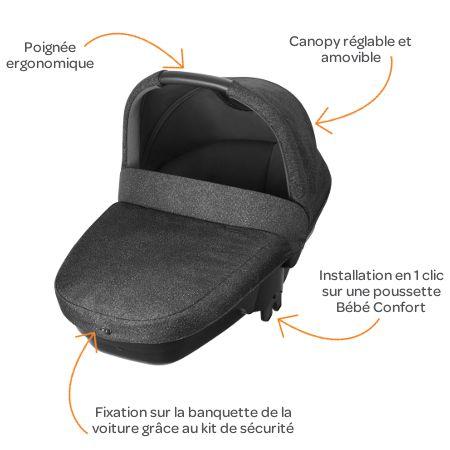 bebe confort nacelle amber s curit auto groupe 0 triangle black achat vente nacelle bebe. Black Bedroom Furniture Sets. Home Design Ideas