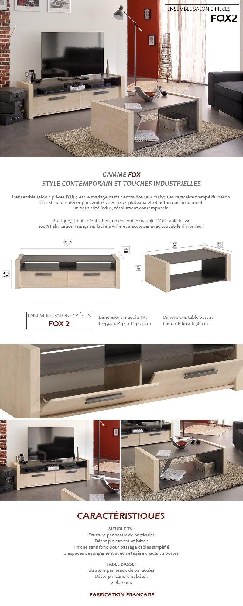 Luxus Meuble Tv Et Table Basse Id Es De Conception De Table Basse # Meuble Tv Beton Bois