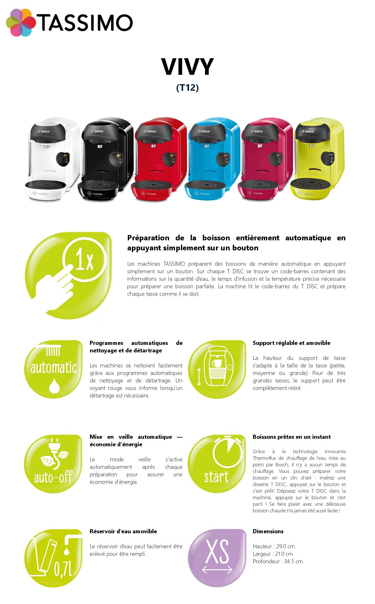 Bosch Tassimo Vivy T12