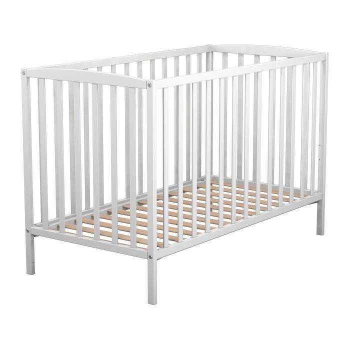lit bebe 60x120 blanc