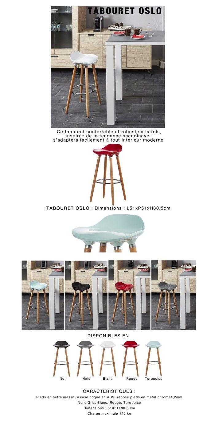 oslo tabouret de bar bleu pieds bois massif scandinave l 51 x p 51 cm achat vente. Black Bedroom Furniture Sets. Home Design Ideas