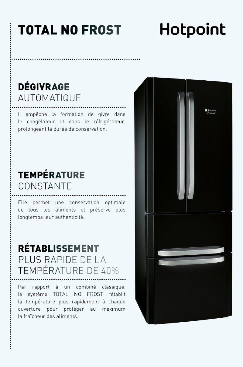 Refrigerateur Americain Faible Largeur hotpoint e4daabc - réfrigérateur multi-portes - 402l (292+