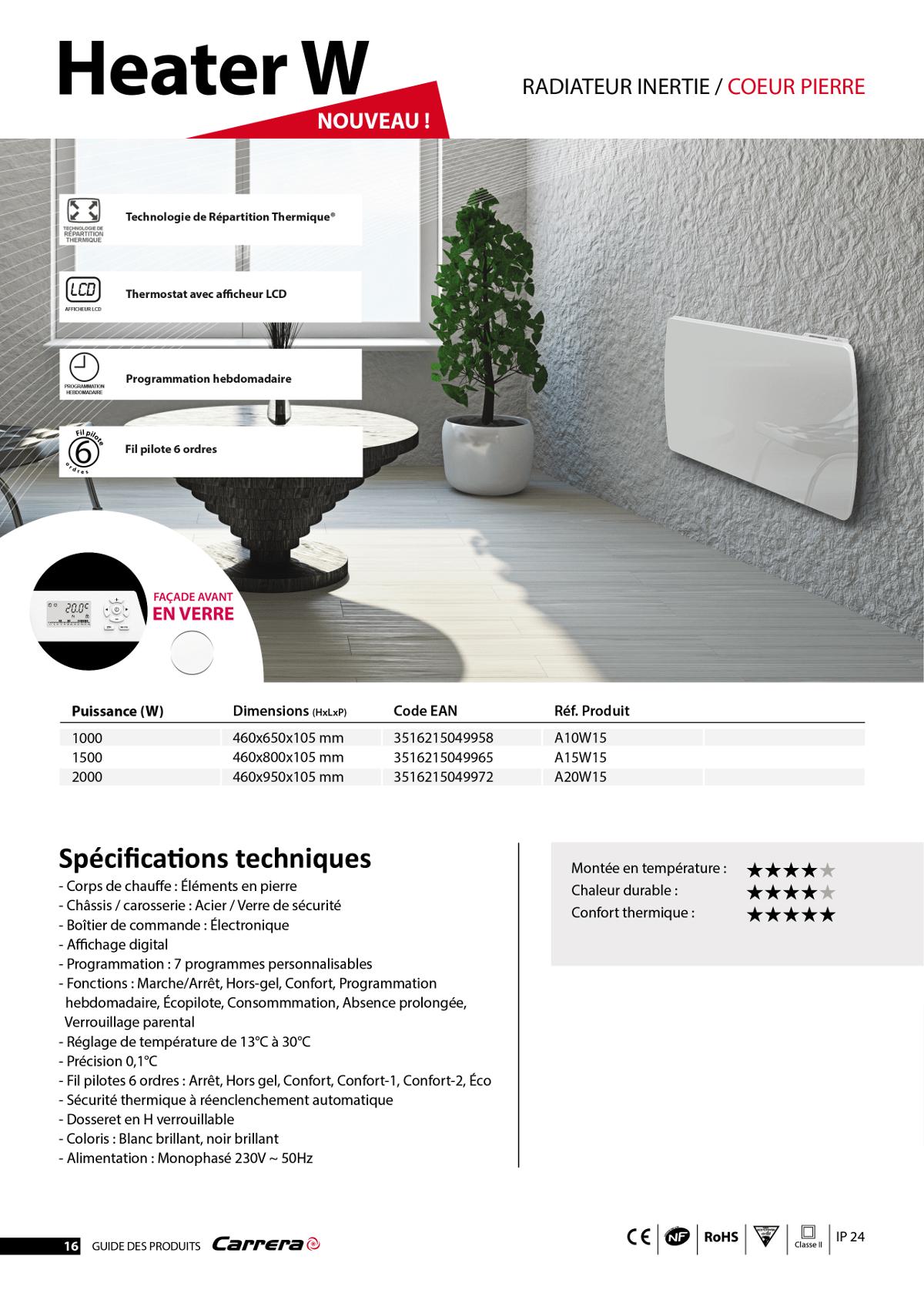 carrera jarpa 2000 watts radiateur lectrique inertie c ramique programmation lcd fa ade. Black Bedroom Furniture Sets. Home Design Ideas