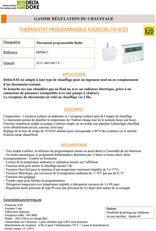 Thermostat connecté - DEL3513140504170
