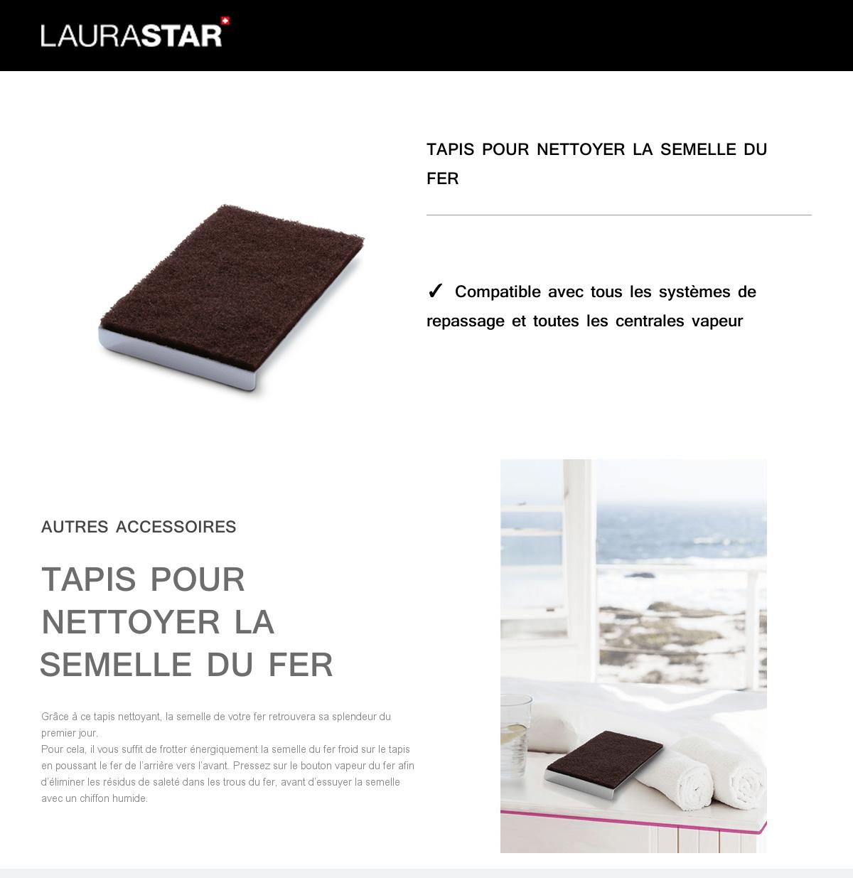 Nettoyer Semelle De Fer laurastar tapis abrasif pour nettoyer la semelle polyfer