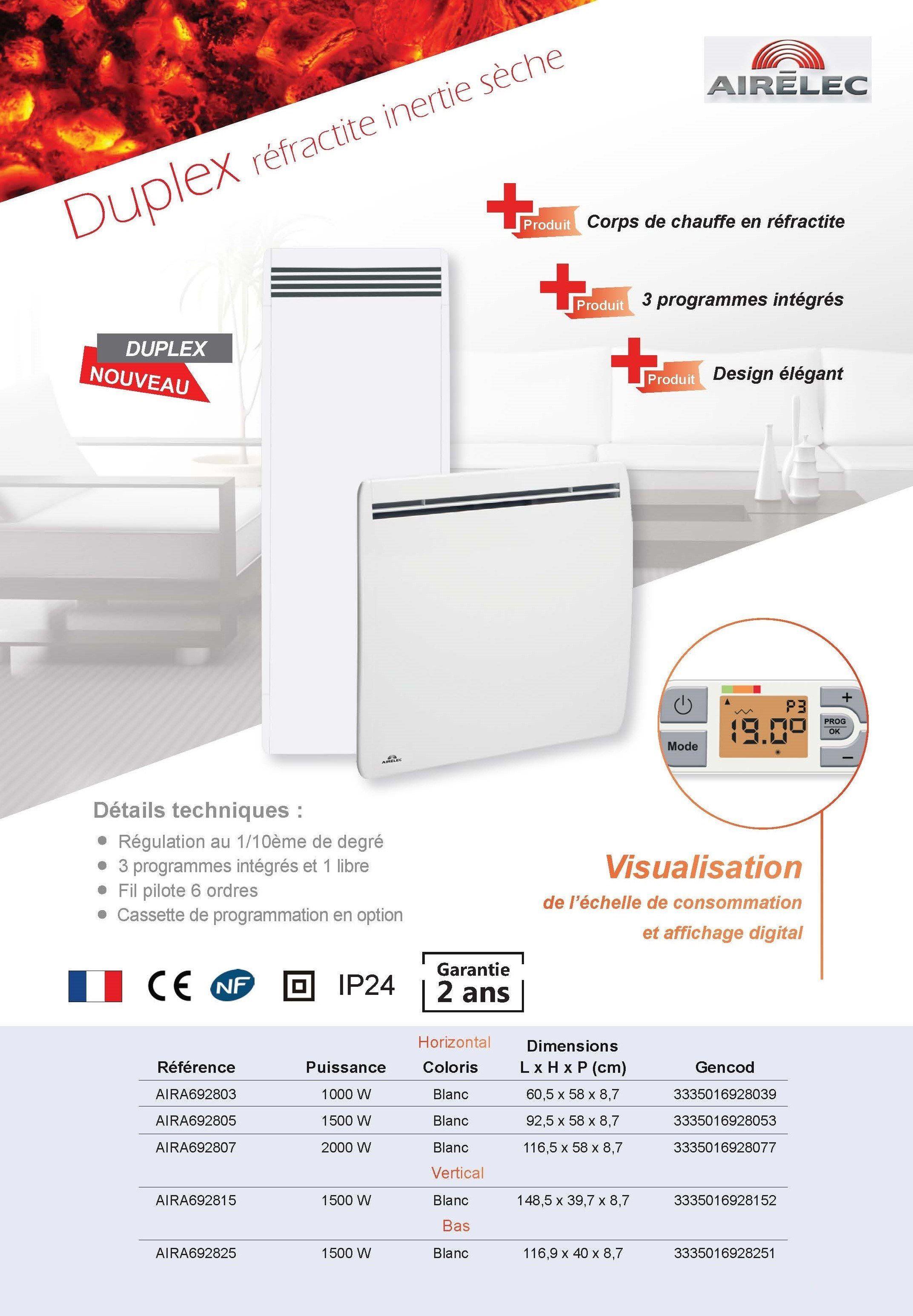 top airelec radiateur rfractite inertie sche horizontal. Black Bedroom Furniture Sets. Home Design Ideas