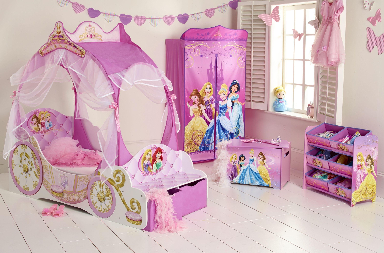 Chambre Petite Fille 3 Ans worlds apart disney princesses lit enfant fille - carosse en