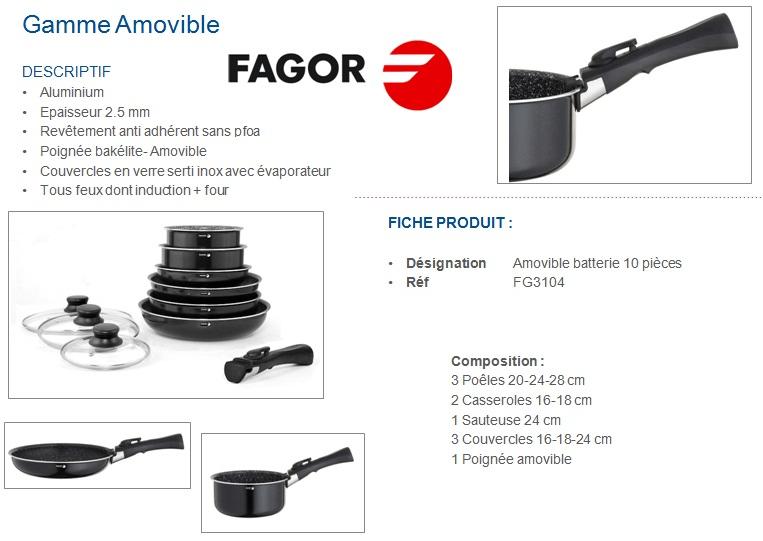 fagor fg3104 batterie de cuisine 10 pièces