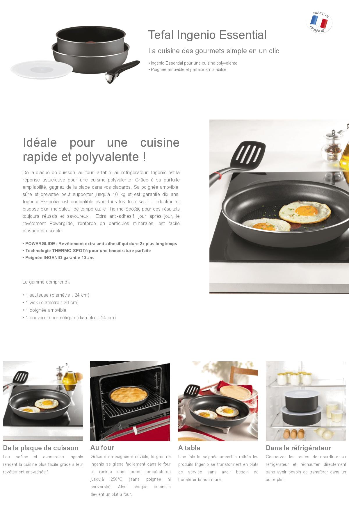 Affordable batterie cuisine induction tefal intrieur tefal - Batterie de cuisine pour plaque a induction ...