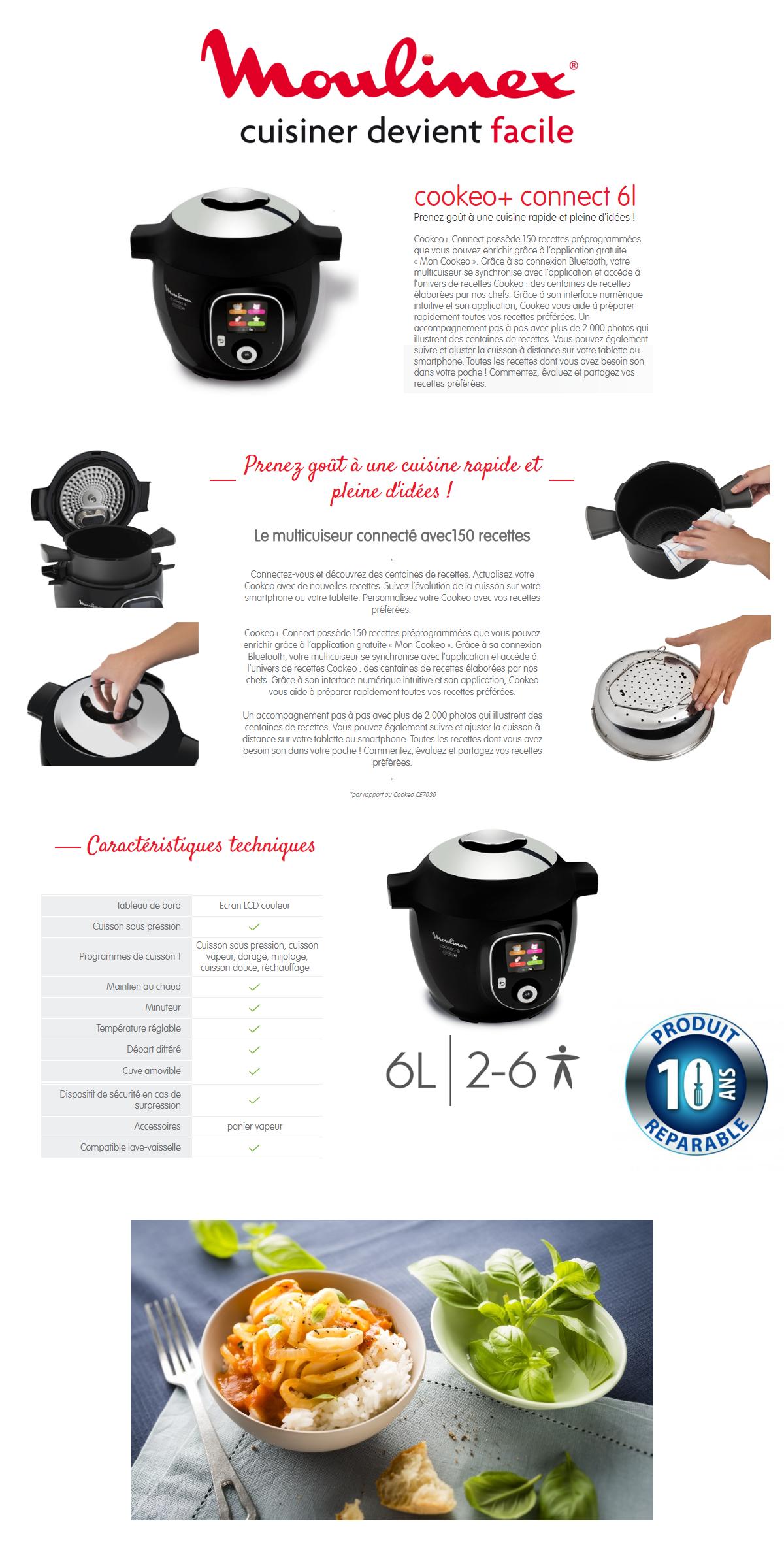 Difference Entre Cookeo Et Autocuiseur moulinex yy2942fb multicuiseur intelligent cookeo connect