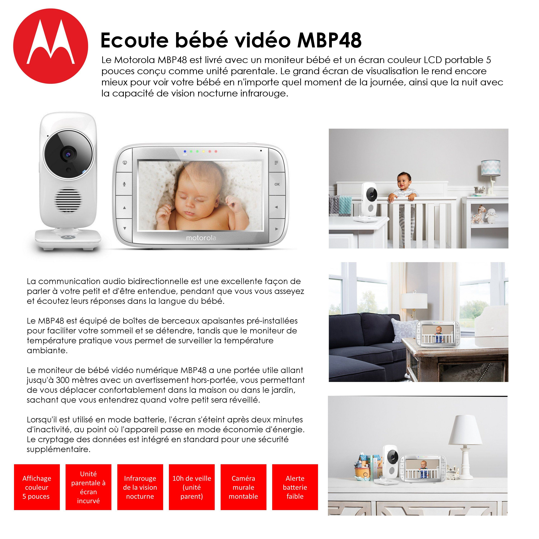 destockage motorola ecoute b b vid o mbp48 coute b b. Black Bedroom Furniture Sets. Home Design Ideas