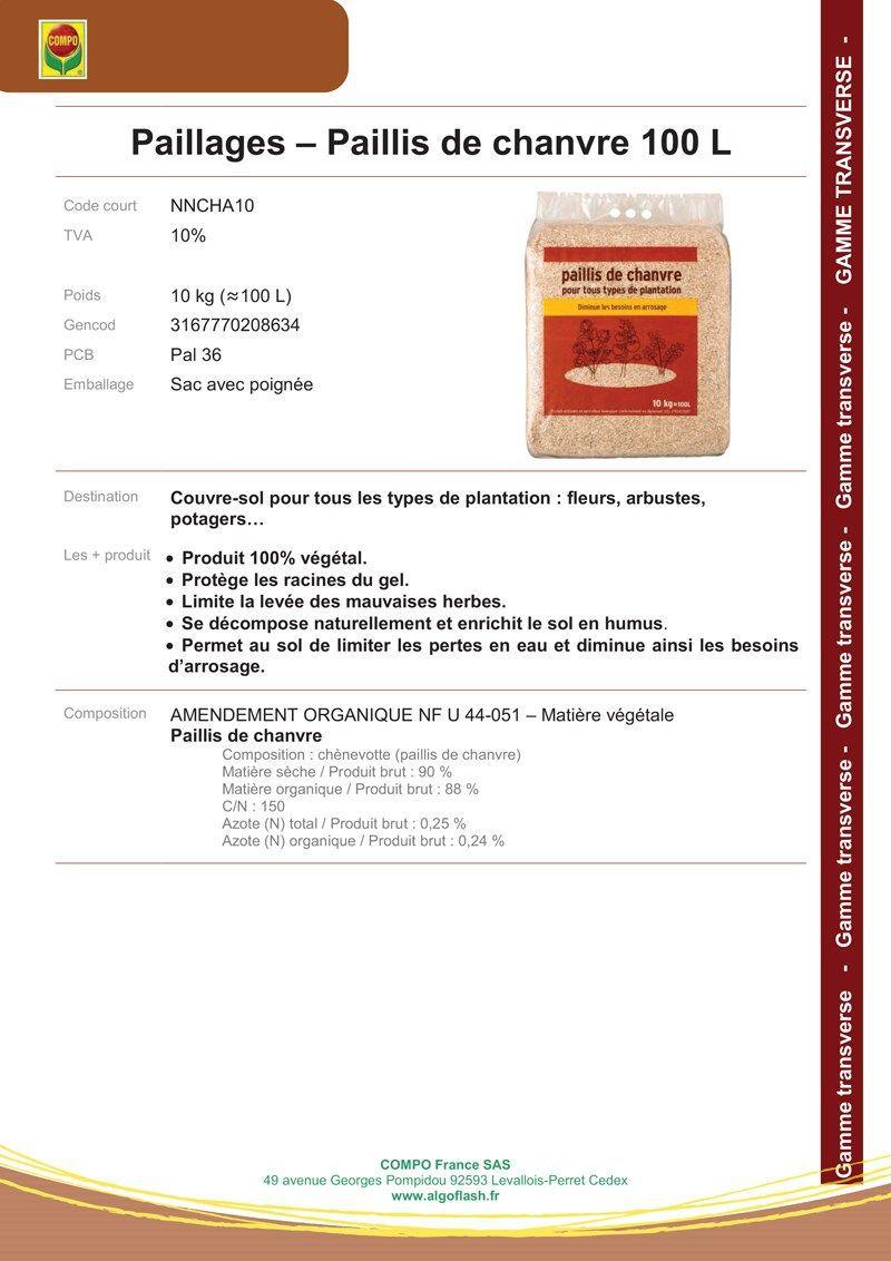 Paillis Noix De Coco paillis de chanvre pour tous types de plantation - 10kg