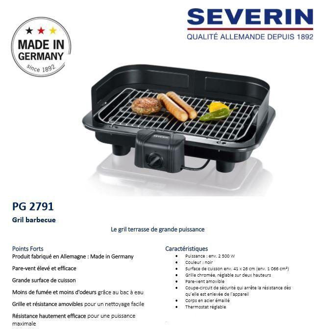 SEVERIN Barbecue-Tischgrill PG 8511 schwarz 2300 Watt