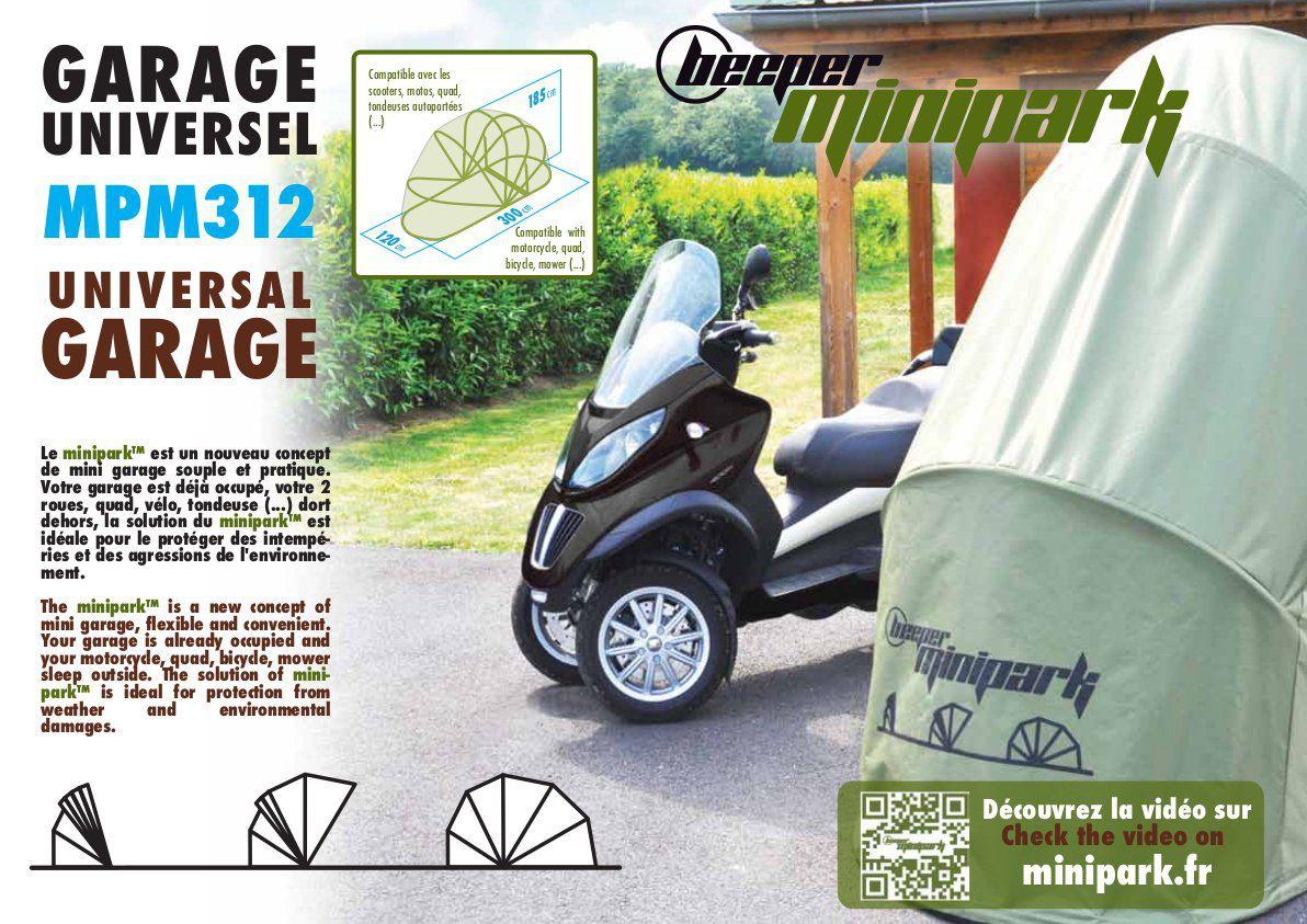Garage souple Moto et Scooter BEEPER MPM312 MiniParc