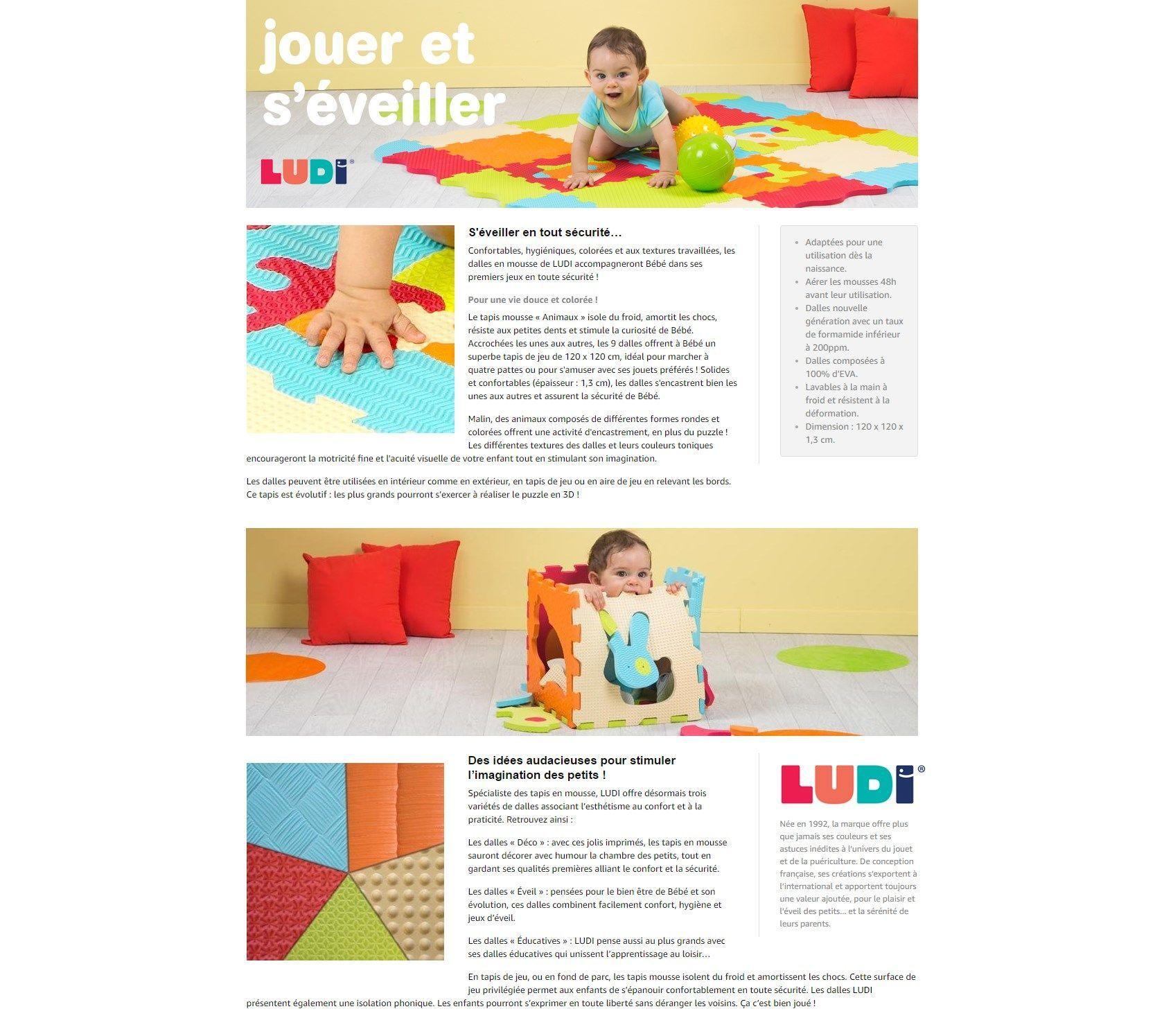 Tapis De Motricité Pas Cher ludi tapis animaux animaux - achat / vente tapis éveil